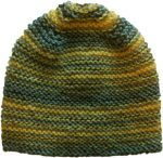 Multi Striped Beanie Gray Yellow Skater