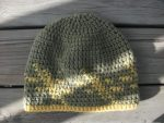 Tan Taupe Yellow Gold Tapestry Crochet Beanie Aspens Chasing the Sun