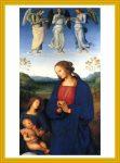 Virgin and Child with Angels Pietro Perugino Art Print Goldenrod