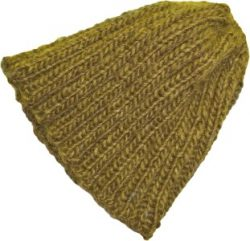 knit beanie slouchy hat moss green short