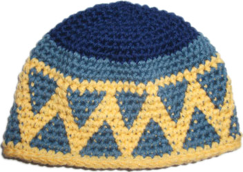 4533b08054f Tapestry Crochet Beanie Kufi Patterned Blue Yellow Child s « Blue ...