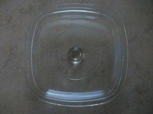 Corning Pyrex Glass Casserole Lid Underside