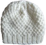 knit slouchy beanie hat off white moss womens