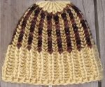 Knit Beanie Brioche Hat Golden Oak Red Mahogany Black Reverse