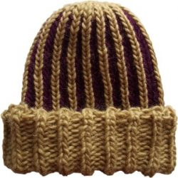 Knit Beanie Brioche Watch Hat Chianti Honey Gold Oak