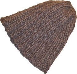 Tan Taupe Beanie Hat Tall Slouch