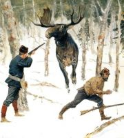 The Moose Hunt by Frederic Remington, ca. 1890