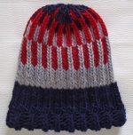 knit-beanie-brioche-hat-red-navy-gray-fire-escape