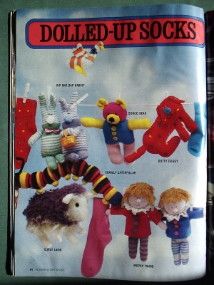 Sock Dolls Kids Sheep Dog Bunnies