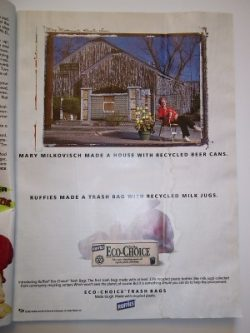 Mary-Milkovisch-recycled-can-house-Ruffies-ad-web