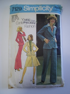 Simplicity Pattern 7129 Jacket Pants Pantskirt Junior Sizes 13 15 ...