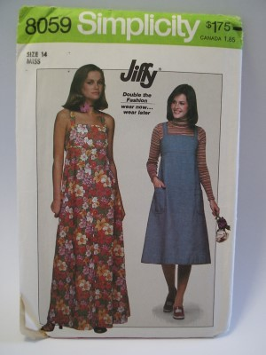 Simplicity Pattern 40 Pullover Sundress Or Jumper Two Lengths Gorgeous Sundress Patterns Simplicity