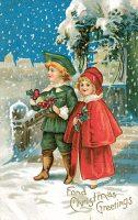 Victorian Christmas children