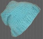 beanie-slouchy-ribbed-brim-turquoise-blue
