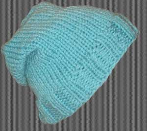 Knit Beanie Ski Hat Slouchy Ribbed Turquoise Blue Western « Blue and ... 5d10dfc0cde