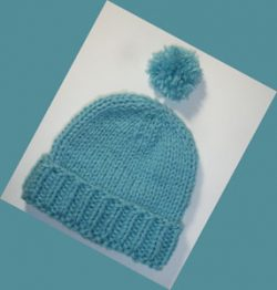 beanie-watch-hat-ribbed-brim-turquoise-blue