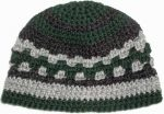 crocheted-wool-beanie-kufi-forest-green-black-gray