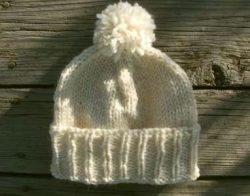 Knit Ivory Cream Beanie Ski Slouchy Watch Hat Sun Rays