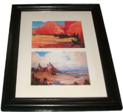 Framed Prints: Navahos on the Way to Laguna Fiesta; The Red Rocks, Jemez, New Mexico by Ira Diamond Gerald Cassidy