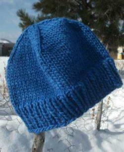 lochmara sapphire blue knit ski slouch beanie