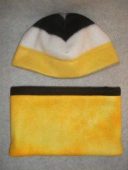 fleece-hat-gaiter-kids-black-white-gold-tiedye
