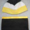 fleece-hat-kids-stripe-black-gold-white